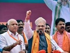 """Won't Compromise..."": BS Yediyurappa After Amit Shah's Hindi Pitch"