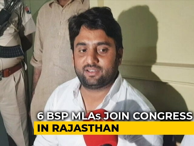 Video : Setback For Mayawati As All 6 MLAs In Rajasthan Join Congress