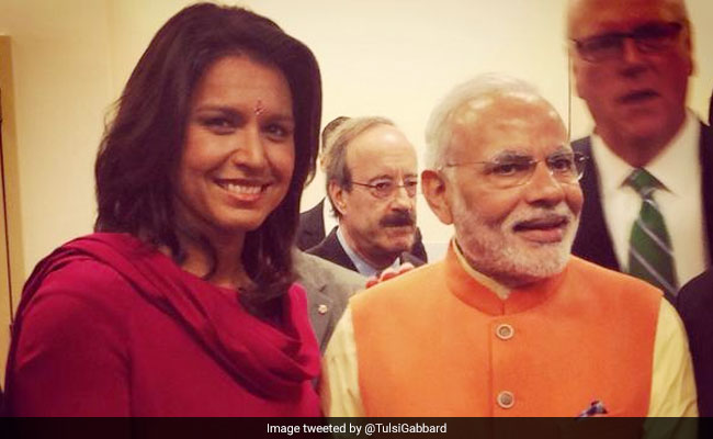 "Tulsi Gabbard Welcomes PM Modi To US, Apologises For Skipping ""Howdy Modi"""