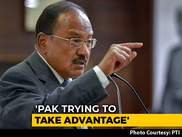 "Video : ""Apple Trucks"", ""Bangles"": Ajit Doval On Pak Intercepts Heard In J&K"