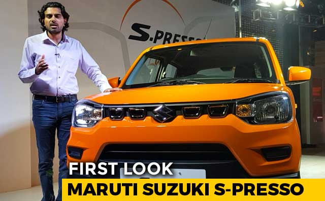 Video : Maruti Suzuki S-Presso First Look