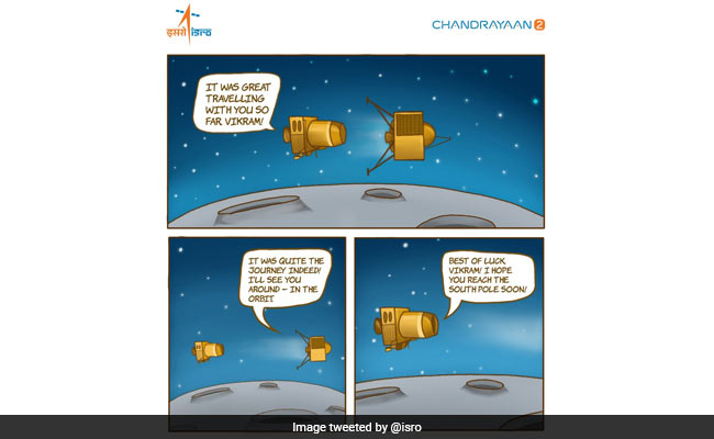 In ISRO Cartoon, Chandrayaan 2's 'Message' For Lander Vikram