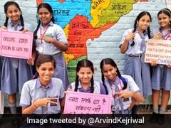 'Salute ISRO': Delhi Government School Students' Message For ISRO