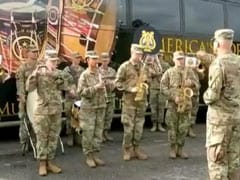 "Watch: US Army Band Plays ""<i>Jana Gana Mana...</i>"" During Joint Military Drill"