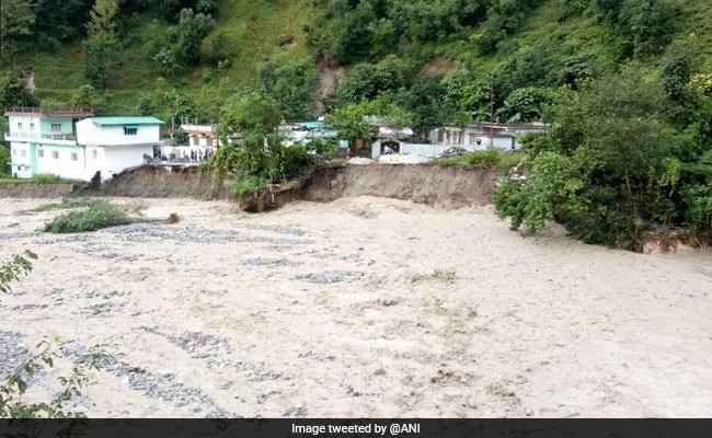 Vehicles Buried Under Debris After Landslide In Uttarakhand