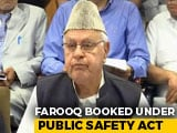 Video : On Farooq Abdullah, Detained Under Tough Law, Top Court Notice To Centre