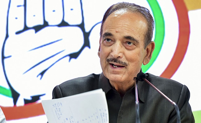 """""""You Gave Pain, Now..."""": Ghulam Nabi Azad's Message To Centre On Kashmir"""