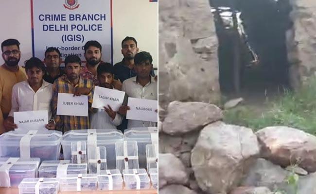पहाड़ के ऊपर चल रही थी अवैध हथियारों की फैक्ट्री,दिल्ली पुलिस का छापा