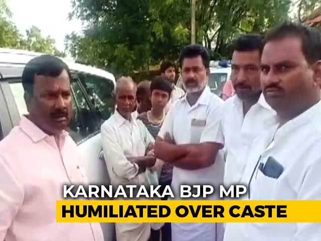 Video : Karnataka BJP MP Refused Entry Into Village Allegedly Over Caste