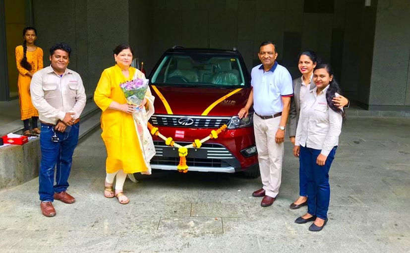 Dr. Pawan Goenka taking delivery of his new Mahindra XUV300 AMT