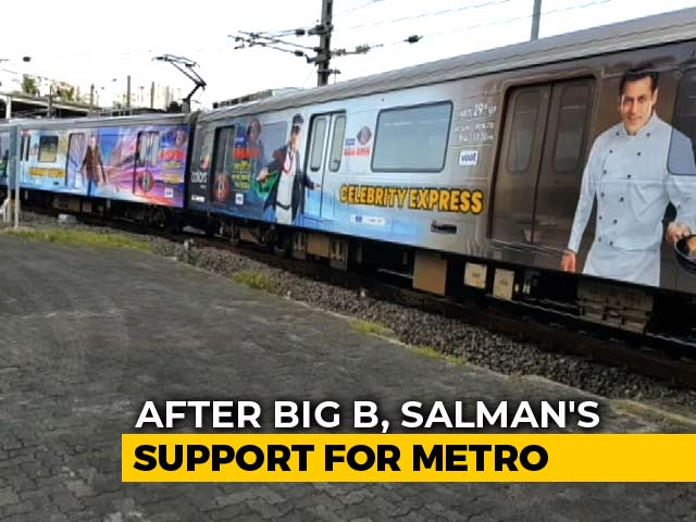 Video : Salman Khan Rides Mumbai Metro To Work Amid Aarey Controversy