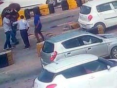 Haryana Toll Booth Staff Collapses As Commuter Smashes Drum On His Head