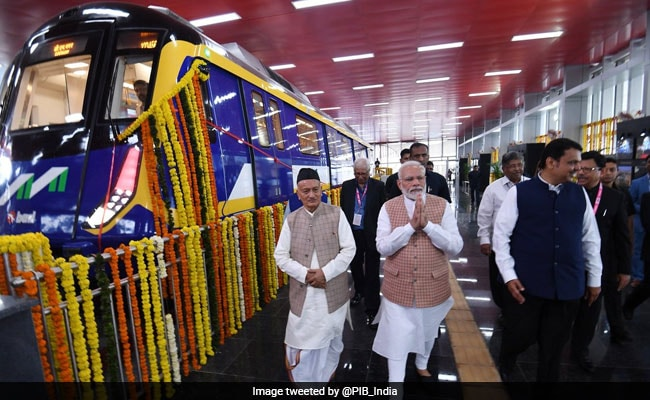 PM Modi Launches 3 New Metro Lines In Mumbai