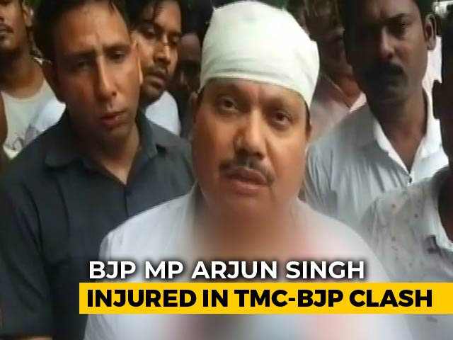 Video : BJP's Arjun Singh Injured As Protesters Clash With Cops In Bengal