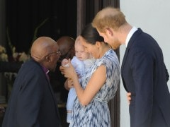 Royal Baby Archie Meets South Africa's Archbishop Tutu On First Public Outing