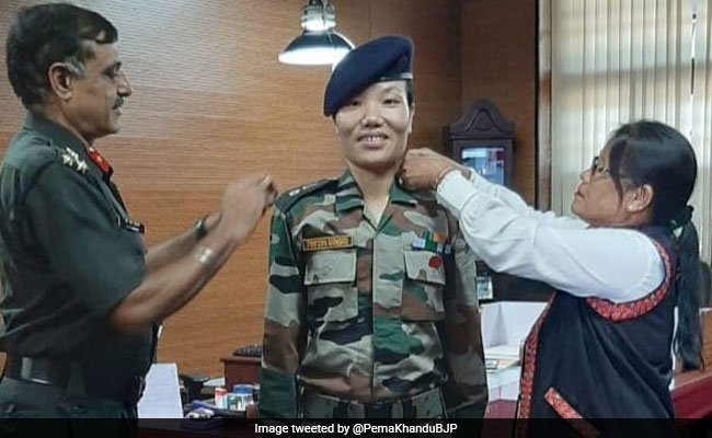 Ponung Doming Becomes First Female Lieutenant Colonel From Arunachal
