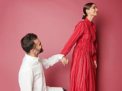 Ahead Of <i>The Zoya Factor</i>'s Release, Anand Ahuja Shares A Pic With His 'Lucky Charm' Sonam Kapoor