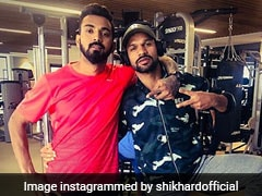 "Shikhar Dhawan Shares Picture With ""Extraordinary"" KL Rahul, Hardik Pandya Hearts It"