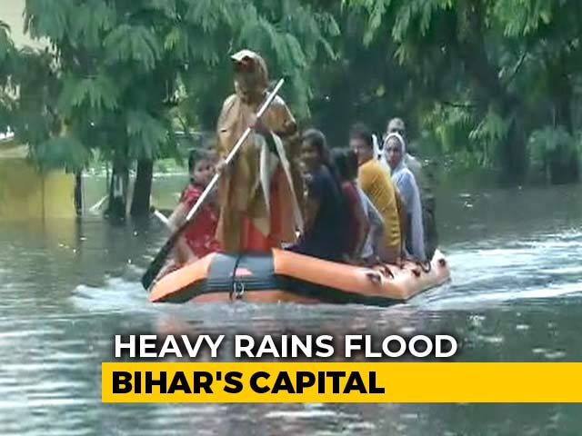 Video : Boats Out On Patna Roads After Heavy Rain, Homes, Hospitals Flooded