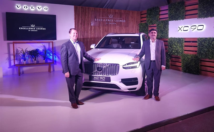 Charles Frump, MD and Jyoti Malhotra, Director, Sales & Marketing- Volvo at the XC90 Excellence launch.