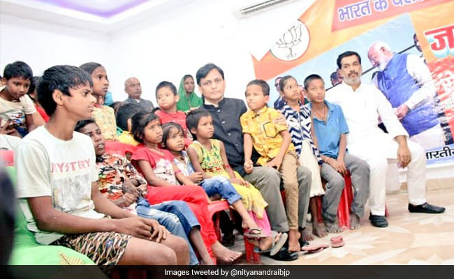 Bihar Minister Nityanand Rai Adopts 25 Differently-Abled Children