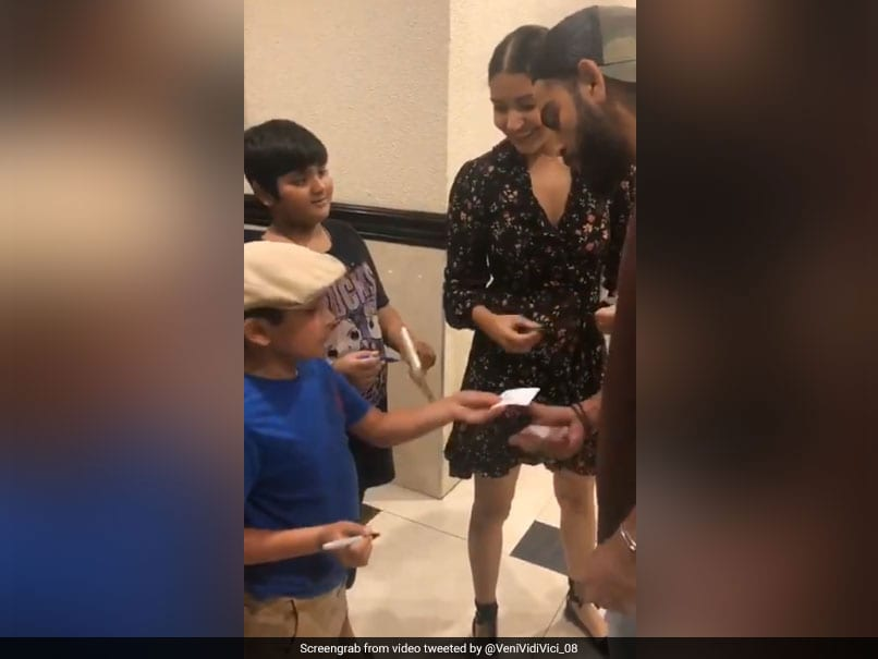 Watch: Anushka Sharma All Smiles As Virat Kohli Takes Autograph Of 7-Year-Old Fan