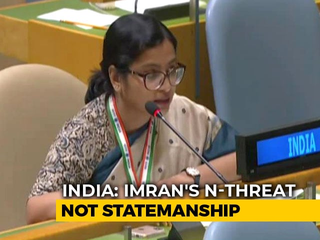 "Video : Imran Khan's Nuke Remark ""Brinkmanship Not Statesmanship"": India At UN"