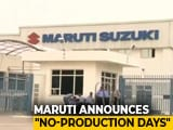 Video : Maruti Suzuki To Shut Down Gurugram, Manesar Plants For 2 Days