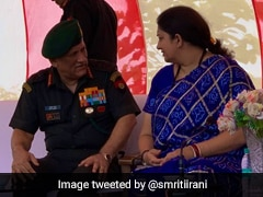 Smriti Irani Visits Amethi, Meets Army Chief Bipin Rawat