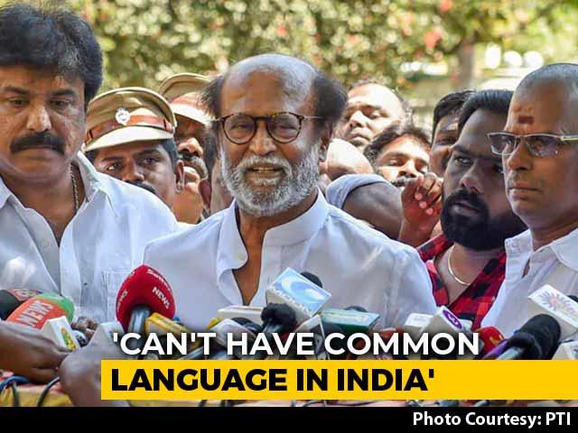 """Video : """"No Language Can Be Imposed"""": Rajinikanth After Amit Shah's Hindi Remark"""