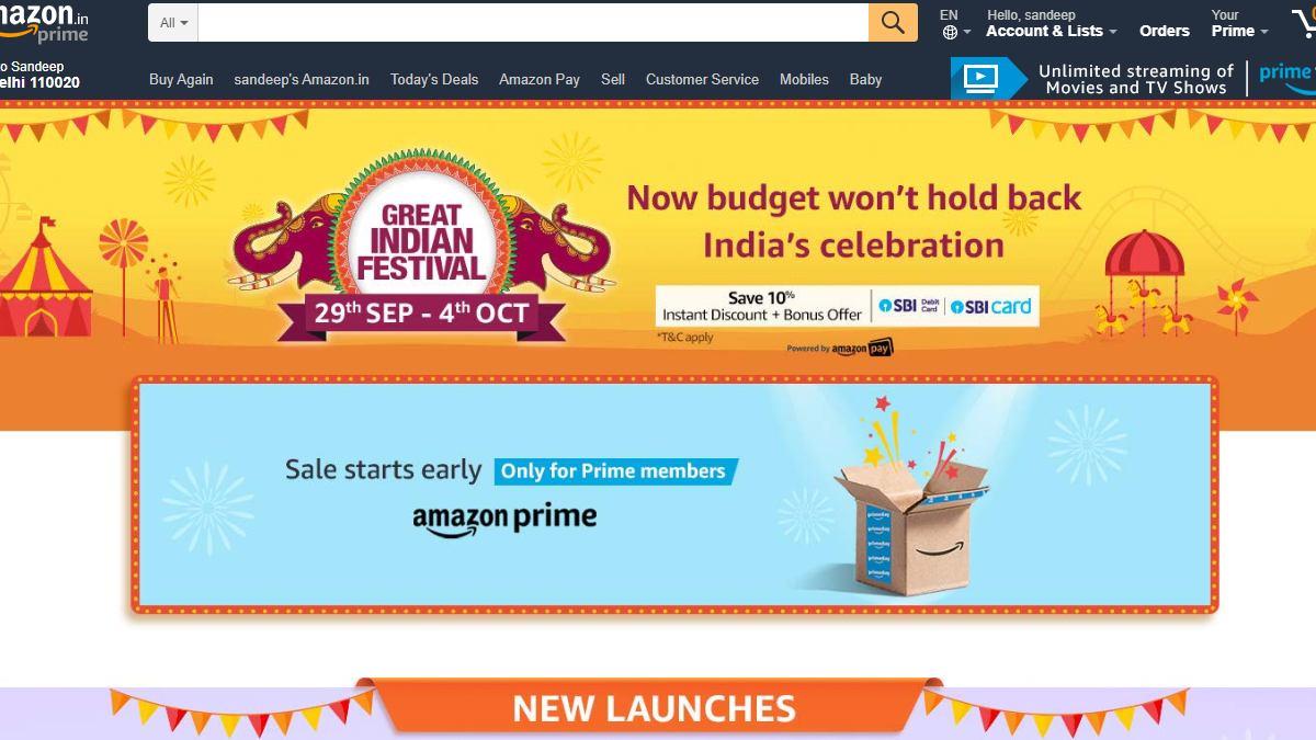 Amazon Great Indian Festival 2019 सेल का आगाज 29 सितंबर से