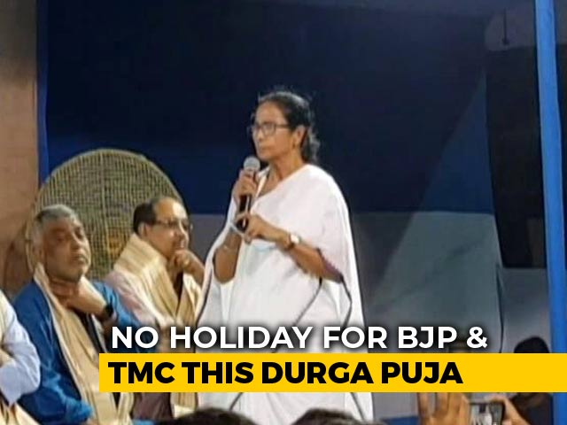 Video : As Barbs Fly, No Holiday For BJP And Trinamool This Durga Puja