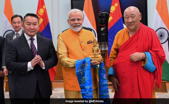 PM Modi, Mongolian President Unveil Lord Buddha Statue Via Video Link