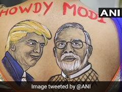 Women Flaunt PM Modi-Trump Body Paint Tattoos At Gujarat Navratri Event