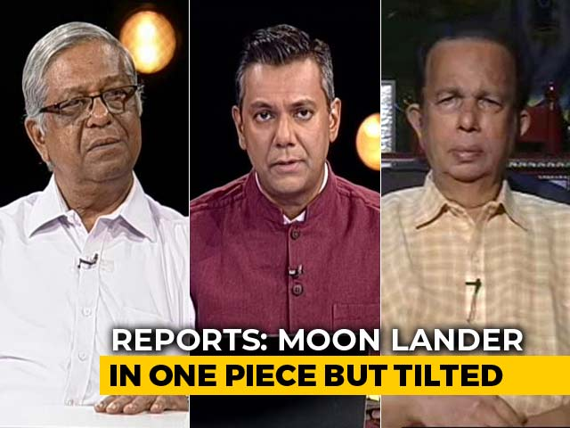 Video : Moon Lander In One Piece But Tilted: Reports