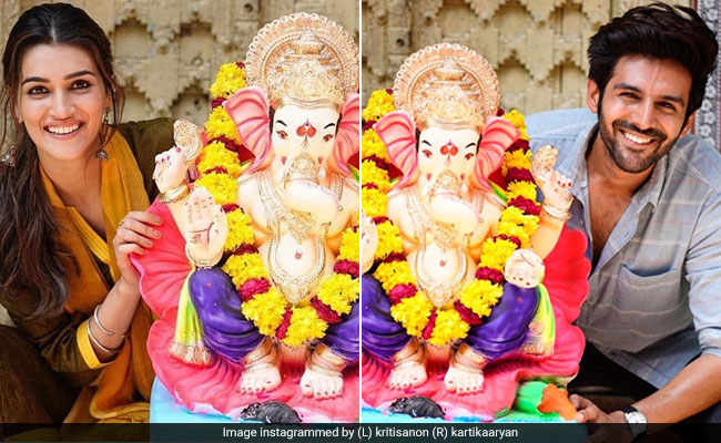 Ganesh Chaturthi 2019: Kartik Aaryan, Kriti Sanon Crop Each Other Out In Their Posts. Here's Why
