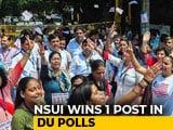 Video : Delhi University Students' Union Results: ABVP Wins 3 Posts, NSUI 1