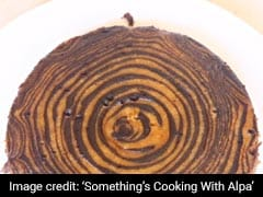 Watch: Make This Eggless Zebra Biscuit Cake In A Cooker