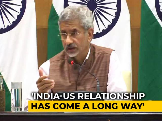 "Video : India-US Relationship In ""Very Good Health"", Says Foreign Minister"