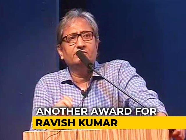 Video : NDTV's Ravish Kumar Wins Gauri Lankesh Award For Journalism