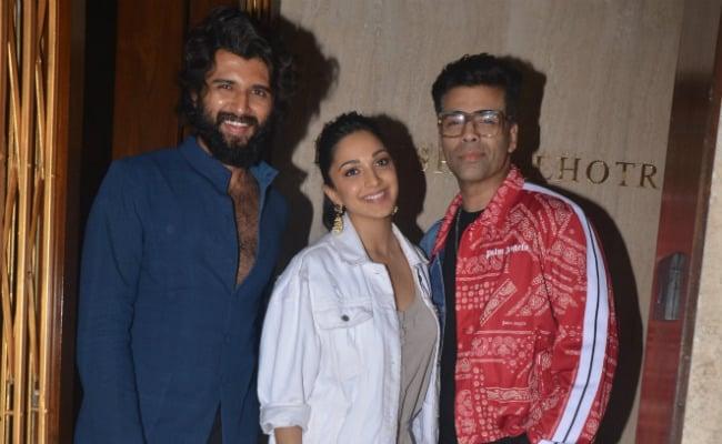 Vijay Deverakonda, Kiara Advani Chill With Karan Johar At Manish Malhotra's