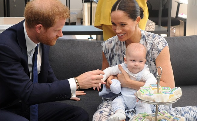 Baby Archie makes first public appearance as royals meet Archbishop Tutu