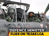 "Video : Rajnath Singh ""Thrilled"" After Tejas Sortie, ""Controlled It"" Briefly"