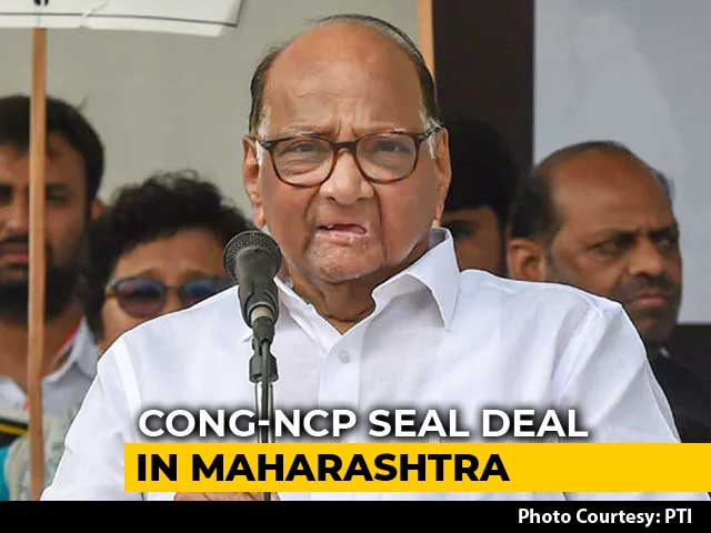 Video : Congress, Sharad Pawar's Party Seal Seat-Sharing For Maharashtra Polls