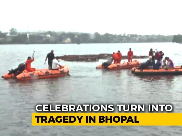 Video : 11 Drown After Boat Overturns In Bhopal Lake During Ganesh Visarjan