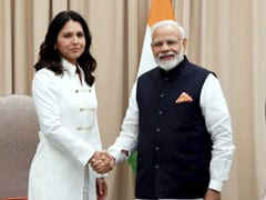 PM Modi Meets US Presidential Candidate Tulsi Gabbard In New York
