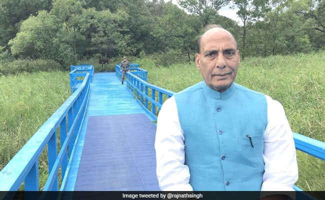 Rajnath Singh Visits Demilitarised Zone Where Kim Jong Un, Moon Jae In Met
