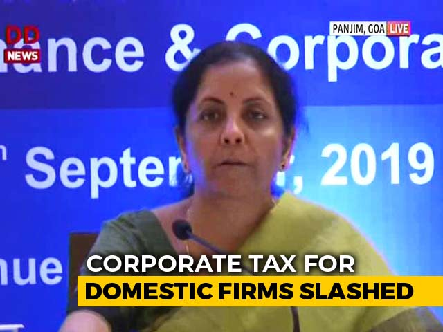 Video: Corporate Tax Rate Cut From 30% To 25.2% To Spur Growth