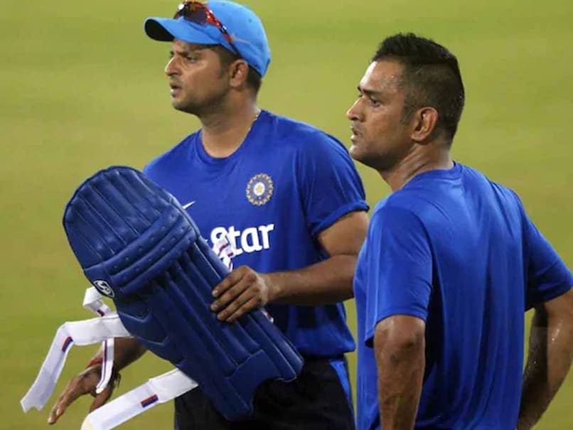 Image result for ms dhoni and suresh raina