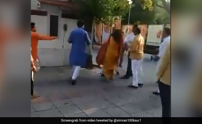 Delhi BJP Leader Seen Slapping Wife, An Ex-Mayor, At Party Office